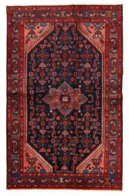 Hamadan Matto 127X202 Itämainen Käsinsolmittu Tummanpunainen/Tummansininen (Villa, Persia/Iran)