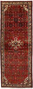 Hosseinabad Matto 74X207 Itämainen Käsinsolmittu Käytävämatto Tummanpunainen/Tummanruskea (Villa, Persia/Iran)