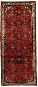 Hosseinabad Matto 74X168 Itämainen Käsinsolmittu Käytävämatto Ruoste/Tummanruskea/Tummanpunainen (Villa, Persia/Iran)
