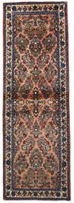 Sarough Matto 74X220 Itämainen Käsinsolmittu Käytävämatto Tummansininen/Vaaleanruskea (Villa, Persia/Iran)