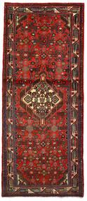 Hamadan Matto 82X197 Itämainen Käsinsolmittu Käytävämatto Tummanpunainen/Tummanruskea (Villa, Persia/Iran)