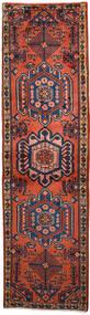 Wiss Matto 62X219 Itämainen Käsinsolmittu Käytävämatto Tummanpunainen/Musta (Villa, Persia/Iran)