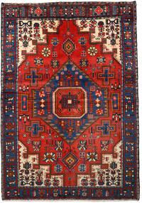 Nahavand Matto 133X193 Itämainen Käsinsolmittu Musta/Tummanpunainen (Villa, Persia/Iran)