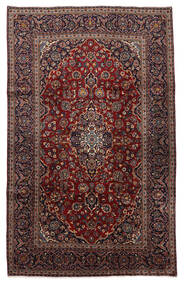 Keshan Matto 210X326 Itämainen Käsinsolmittu Musta/Tummanruskea (Villa, Persia/Iran)