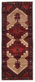 Hamadan Matto 99X246 Itämainen Käsinsolmittu Käytävämatto Tummanpunainen (Villa, Persia/Iran)