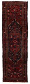 Hamadan Matto 96X293 Itämainen Käsinsolmittu Käytävämatto Tummanpunainen (Villa, Persia/Iran)