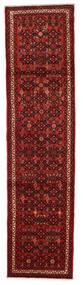 Hosseinabad Matto 74X296 Itämainen Käsinsolmittu Käytävämatto Tummanpunainen/Ruoste (Villa, Persia/Iran)