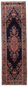 Mehraban Matto 87X294 Itämainen Käsinsolmittu Käytävämatto Musta/Tummanpunainen (Villa, Persia/Iran)