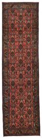 Hamadan Matto 77X285 Itämainen Käsinsolmittu Käytävämatto Tummanruskea/Tummanpunainen (Villa, Persia/Iran)