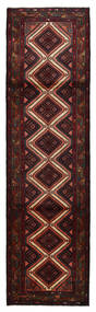 Mehraban Matto 86X305 Itämainen Käsinsolmittu Käytävämatto Tummanruskea/Tummanpunainen (Villa, Persia/Iran)
