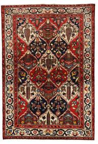 Bakhtiar Matto 139X205 Itämainen Käsinsolmittu Tummanpunainen/Musta (Villa, Persia/Iran)