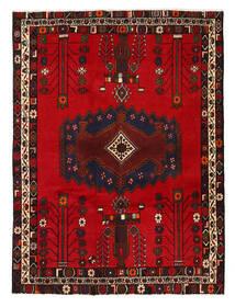 Afshar/Sirjan Matto 130X178 Itämainen Käsinsolmittu Tummanruskea/Tummanpunainen/Punainen (Villa, Persia/Iran)