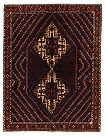 Afshar/Sirjan Matto 152X198 Itämainen Käsinsolmittu Tummanpunainen (Villa, Persia/Iran)