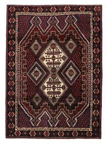 Afshar/Sirjan Matto 120X166 Itämainen Käsinsolmittu Tummanpunainen (Villa, Persia/Iran)