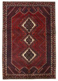 Afshar/Sirjan Matto 140X204 Itämainen Käsinsolmittu Tummanpunainen/Musta (Villa, Persia/Iran)