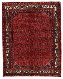 Hosseinabad Matto 157X200 Itämainen Käsinsolmittu Tummanpunainen/Tummanruskea (Villa, Persia/Iran)