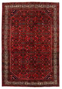 Hosseinabad Matto 136X203 Itämainen Käsinsolmittu Tummanpunainen/Ruoste (Villa, Persia/Iran)