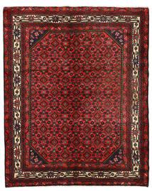 Hosseinabad Matto 151X190 Itämainen Käsinsolmittu Tummanpunainen/Tummanruskea (Villa, Persia/Iran)