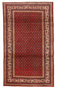 Sarough Matto 111X197 Itämainen Käsinsolmittu Tummanpunainen/Tummanruskea (Villa, Persia/Iran)