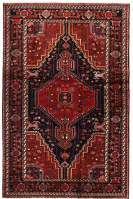 Hamadan Matto 125X195 Itämainen Käsinsolmittu Tummanpunainen/Tummanruskea (Villa, Persia/Iran)