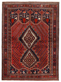 Afshar/Sirjan Matto 153X210 Itämainen Käsinsolmittu Tummanpunainen/Tummanruskea (Villa, Persia/Iran)
