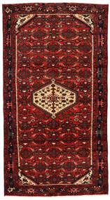 Hosseinabad Matto 118X218 Itämainen Käsinsolmittu Tummanpunainen/Tummanruskea/Ruoste (Villa, Persia/Iran)