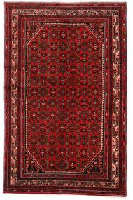Hosseinabad Matto 147X215 Itämainen Käsinsolmittu Tummanpunainen/Ruoste (Villa, Persia/Iran)