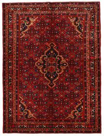 Hosseinabad Matto 160X215 Itämainen Käsinsolmittu Tummanruskea/Tummanpunainen (Villa, Persia/Iran)