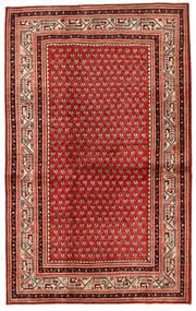 Sarough Matto 133X214 Itämainen Käsinsolmittu Tummanpunainen/Ruoste (Villa, Persia/Iran)