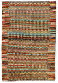Moroccan Berber - Afghanistan Matto 124X180 Moderni Käsinsolmittu Ruskea/Pastellinvihreä (Villa, Afganistan)