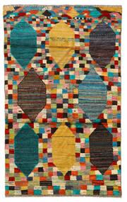 Moroccan Berber - Afghanistan Matto 117X190 Moderni Käsinsolmittu Musta/Vaaleanruskea (Villa, Afganistan)