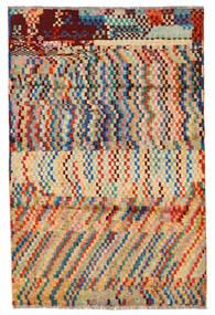 Moroccan Berber - Afghanistan Matto 124X184 Moderni Käsinsolmittu Tummanbeige/Tummanruskea (Villa, Afganistan)