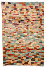 Moroccan Berber - Afghanistan Matto 115X175 Moderni Käsinsolmittu Tummanpunainen/Keltainen (Villa, Afganistan)