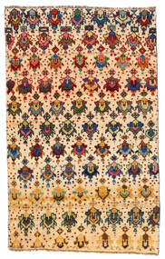 Moroccan Berber - Afghanistan Matto 114X184 Moderni Käsinsolmittu Beige/Tummanbeige (Villa, Afganistan)