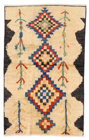 Moroccan Berber - Afghanistan Matto 115X183 Moderni Käsinsolmittu Beige/Keltainen/Vaaleanruskea (Villa, Afganistan)