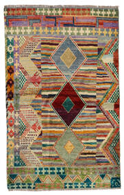 Moroccan Berber - Afghanistan Matto 125X202 Moderni Käsinsolmittu Vaaleanruskea/Vaaleanharmaa (Villa, Afganistan)