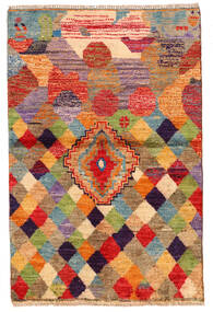 Moroccan Berber - Afghanistan Matto 85X130 Moderni Käsinsolmittu Tummanpunainen/Punainen (Villa, Afganistan)