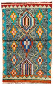 Moroccan Berber - Afghanistan Matto 87X140 Moderni Käsinsolmittu Vaaleanharmaa/Tummanvihreä (Villa, Afganistan)
