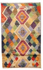 Moroccan Berber - Afghanistan Matto 83X135 Moderni Käsinsolmittu Vaaleanruskea/Tummanbeige (Villa, Afganistan)