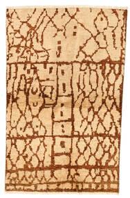 Moroccan Berber - Afghanistan Matto 95X152 Moderni Käsinsolmittu Keltainen/Ruskea (Villa, Afganistan)