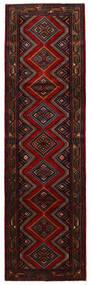 Hamadan Matto 85X292 Itämainen Käsinsolmittu Käytävämatto Tummanruskea/Tummanpunainen (Villa, Persia/Iran)