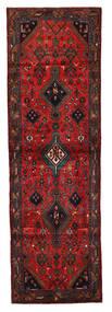 Hamadan Matto 92X294 Itämainen Käsinsolmittu Käytävämatto Tummanpunainen/Musta (Villa, Persia/Iran)