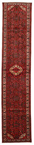 Hosseinabad Matto 83X400 Itämainen Käsinsolmittu Käytävämatto Tummanpunainen/Tummanruskea (Villa, Persia/Iran)