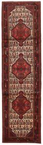 Hamadan Matto 82X302 Itämainen Käsinsolmittu Käytävämatto Tummanpunainen/Tummanruskea (Villa, Persia/Iran)