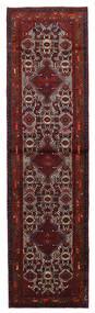 Hamadan Matto 78X295 Itämainen Käsinsolmittu Käytävämatto Tummanpunainen/Tummanruskea (Villa, Persia/Iran)