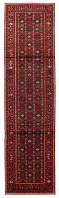Hosseinabad Matto 84X315 Itämainen Käsinsolmittu Käytävämatto Tummanpunainen/Tummanruskea (Villa, Persia/Iran)