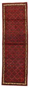 Hosseinabad Matto 90X283 Itämainen Käsinsolmittu Käytävämatto Tummanpunainen/Tummanruskea (Villa, Persia/Iran)