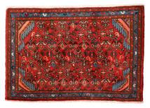 Hamadan Matto 55X81 Itämainen Käsinsolmittu Ruoste/Tummanruskea (Villa, Persia/Iran)