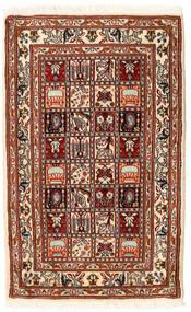 Moud Matto 62X98 Itämainen Käsinsolmittu Tummanpunainen/Beige (Villa/Silkki, Persia/Iran)