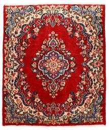Sarough Matto 76X90 Itämainen Käsinsolmittu Ruoste/Tummanvioletti (Villa, Persia/Iran)